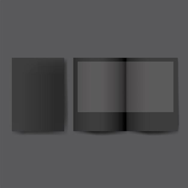 パンフレットデザインテンプレートのモックアップ 無料ベクター