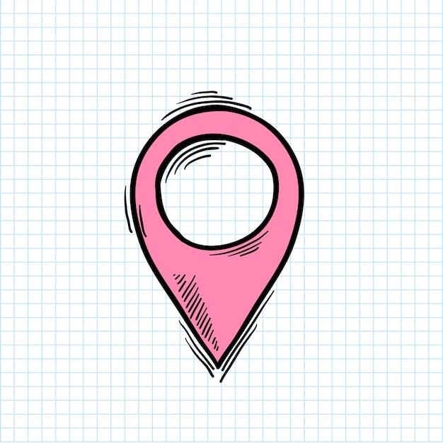 Иллюстрация символ местоположения, изолированных на фоне Бесплатные векторы