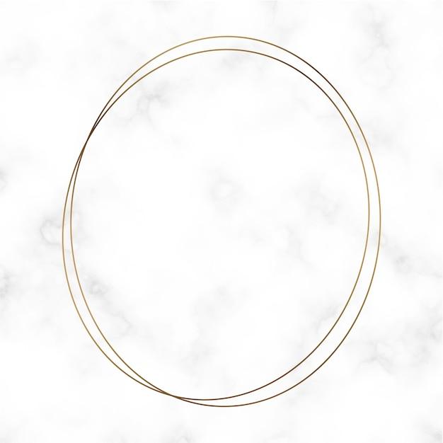 Золотой шаблон круглой рамки Бесплатные векторы