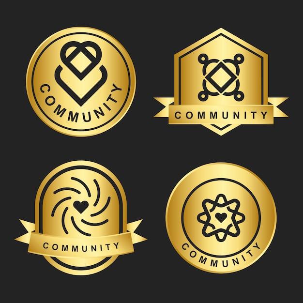 Логотип сообщества Бесплатные векторы