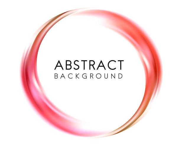赤で抽象的な背景のデザイン 無料ベクター