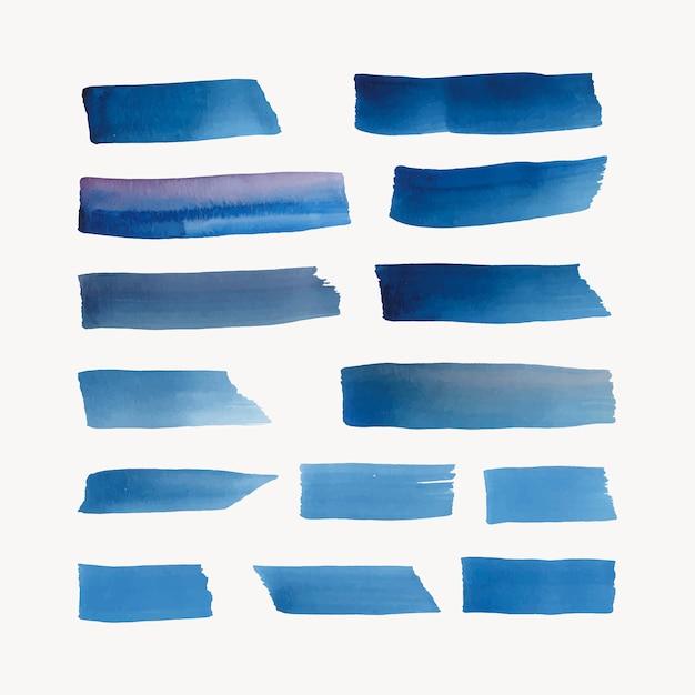 青で塗られた水彩の背景ベクトル 無料ベクター