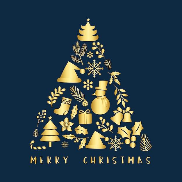クリスマスの挨拶バッジベクトル 無料ベクター