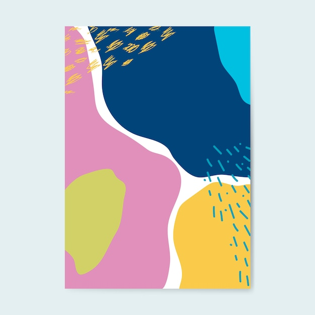 カラフルなメンフィススタイルのポスターベクター 無料ベクター
