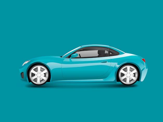 Синий спортивный автомобиль в синем фоне Бесплатные векторы