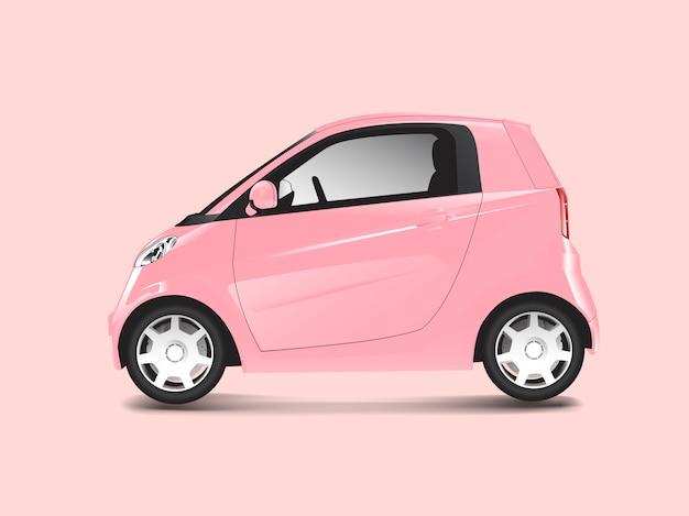 Розовый компактный гибридный автомобиль Бесплатные векторы