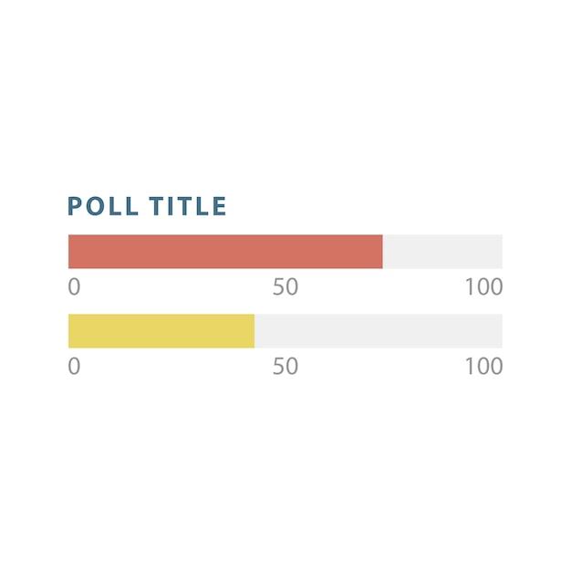 ポールバーのインフォグラフィックチャートベクトル 無料ベクター