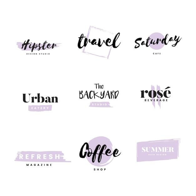 Коллекция логотипов и брендинга вектор Бесплатные векторы