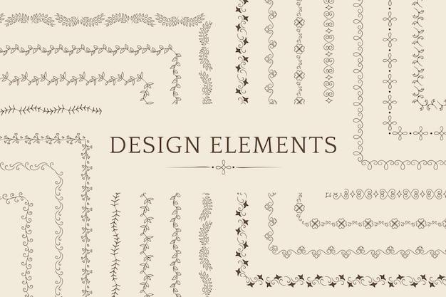 仕切りの設計要素ベクトルのコレクション 無料ベクター