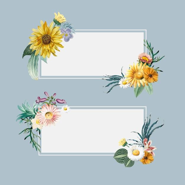 花の夏のバナー 無料ベクター
