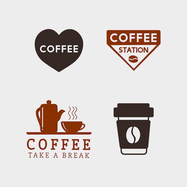 Набор элементов кофе и кофейные аксессуары вектор Бесплатные векторы