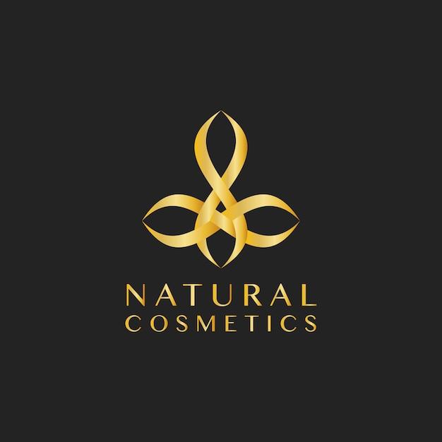 天然化粧品のデザインロゴベクトル 無料ベクター