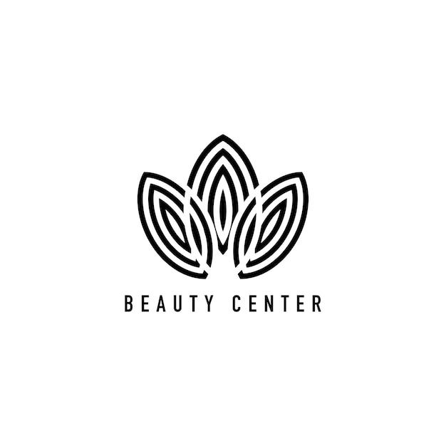 ビューティーセンターブランディングロゴイラスト 無料ベクター
