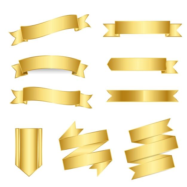 Набор смешанных баннеров вектора Бесплатные векторы