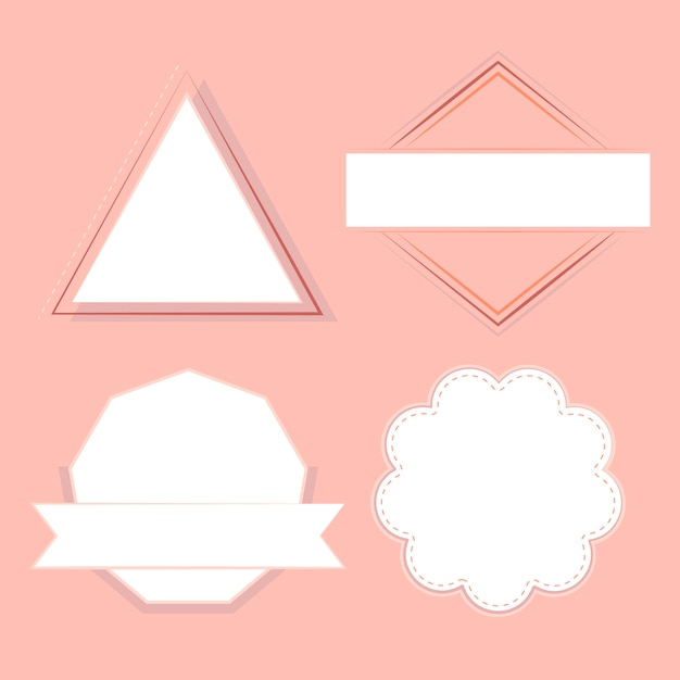 Набор значков и эмблем вектора Бесплатные векторы
