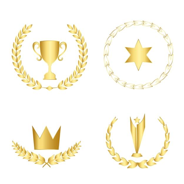 Набор наград и значков вектора Бесплатные векторы