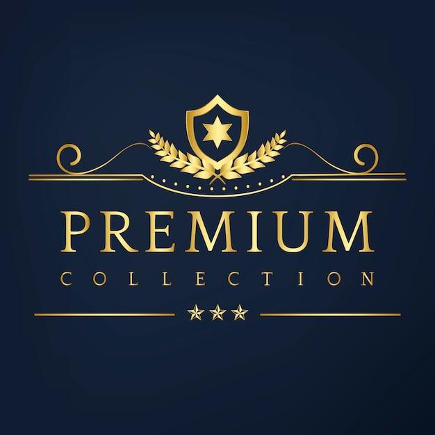 プレミアムコレクションバッジデザインベクター 無料ベクター