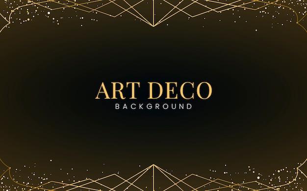 装飾的な金色の光沢のある最小のアールデコの壁紙 無料ベクター