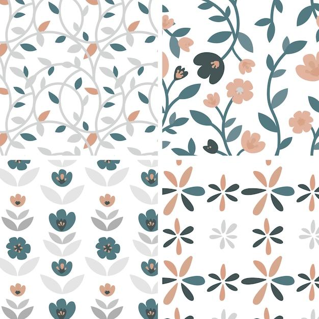 Набор рисованной иллюстрации роз и растений Бесплатные векторы