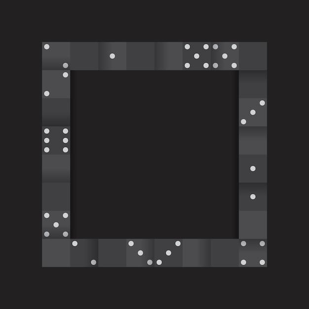 空白の黒の背景ベクトルに黒ブロックのフレーム 無料ベクター
