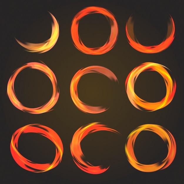 Абстрактная круглая коллекция Бесплатные векторы