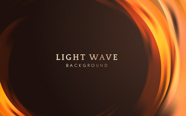 Фон границы световой волны Бесплатные векторы