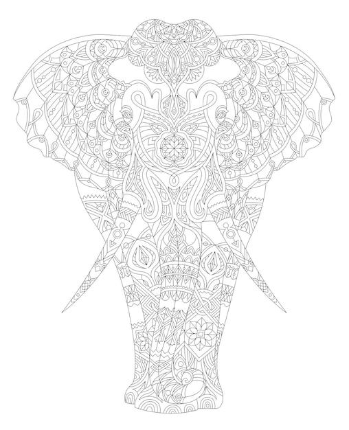 動物の大人の着色ページのイラスト 無料ベクター