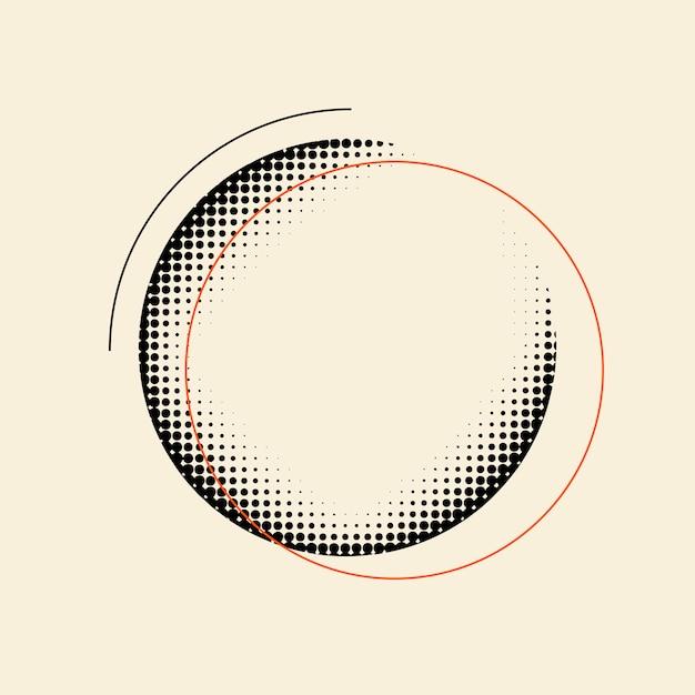 Черный старинный полутоновый значок на бежевом фоне вектор Бесплатные векторы