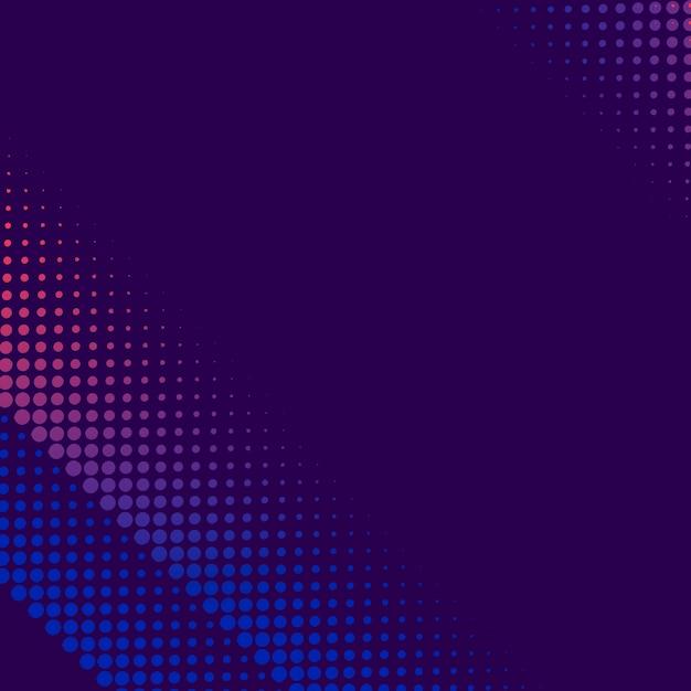 紫とピンクのハーフトーン背景ベクトル 無料ベクター
