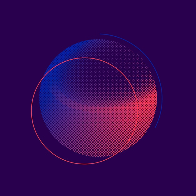 Фиолетовый и розовый полутоновых значок вектора Бесплатные векторы