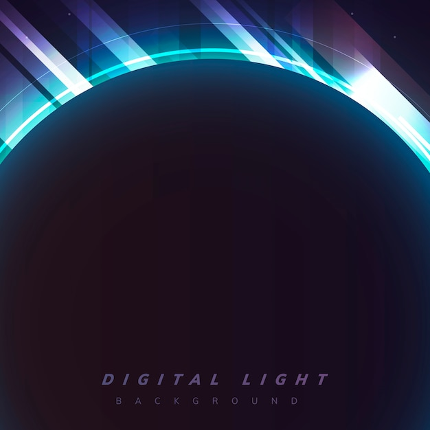 デジタルライト背景 無料ベクター