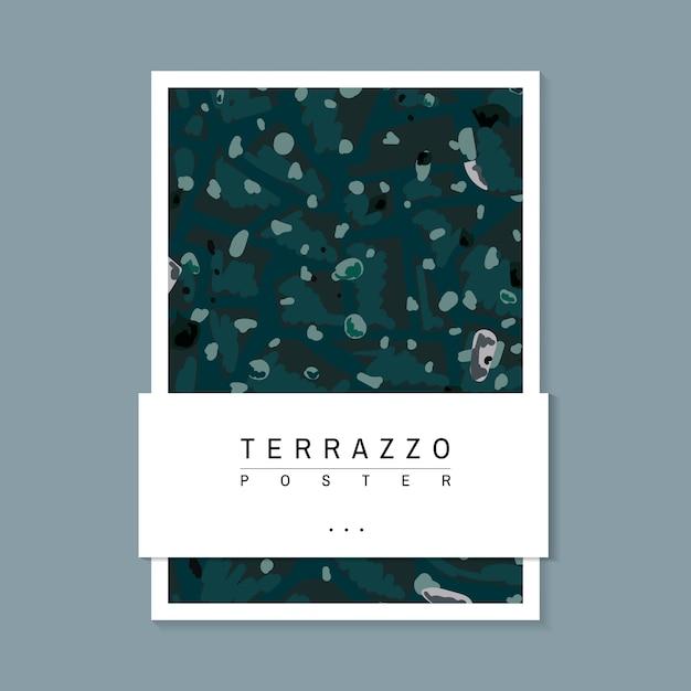 カラフルなテラッツォパターンのポスターベクトル 無料ベクター