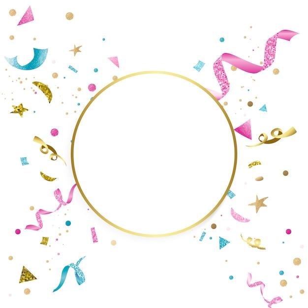 カラフルな色付きのお祝いのデザイン 無料ベクター