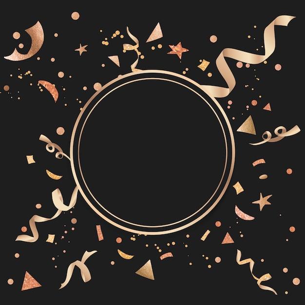 Золотой конфетти праздничный дизайн Бесплатные векторы