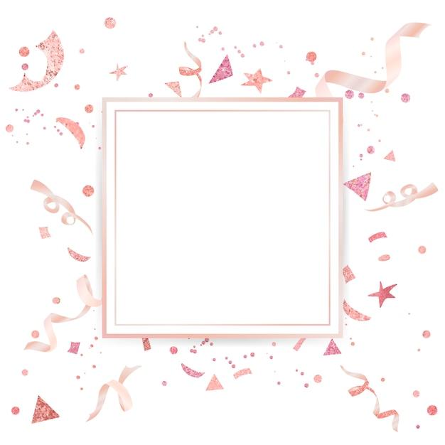 ライトピンクの紙吹雪のお祝いのデザイン 無料ベクター