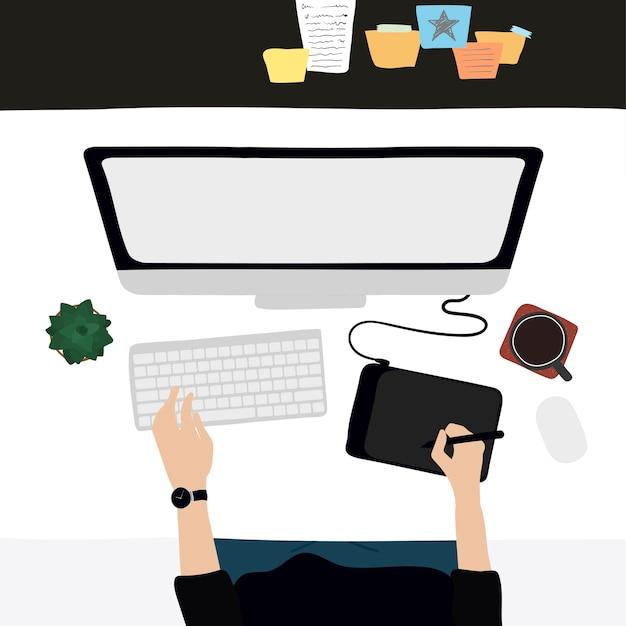 Иллюстрация повседневной жизни людей Бесплатные векторы