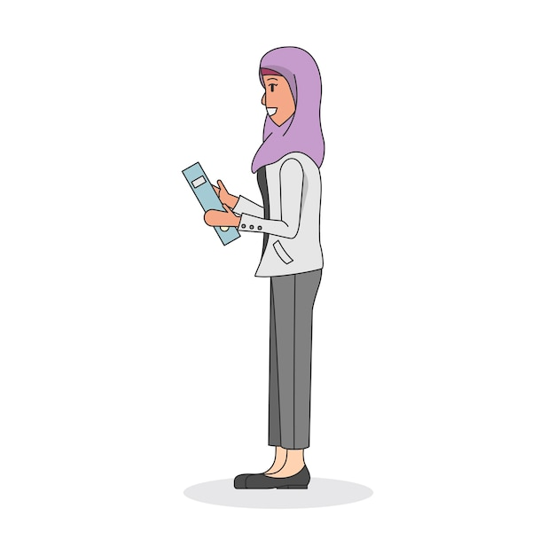 ヒジャーブを着ている女性のイラスト 無料ベクター