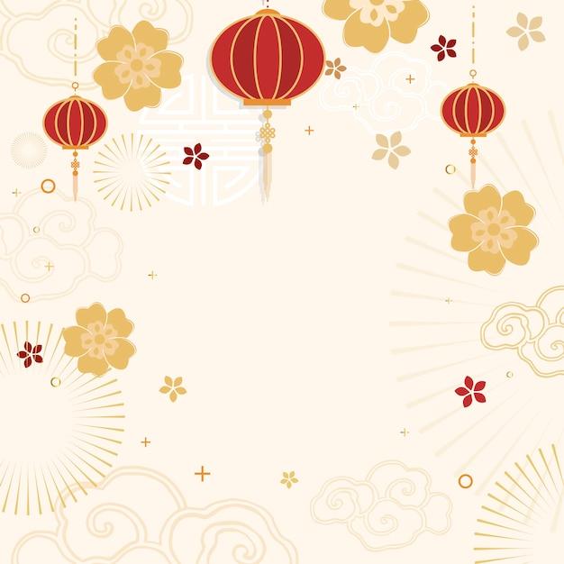 Китайский новый год макет иллюстрации Бесплатные векторы