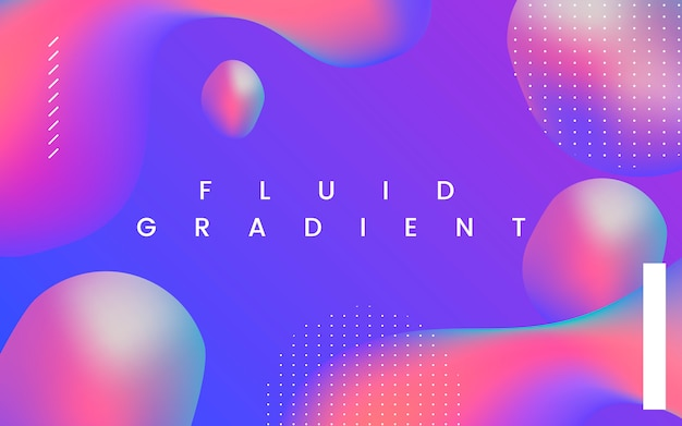 流体グラデーション壁紙デザイン 無料ベクター