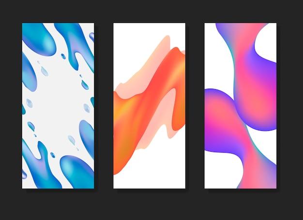 Флюид градиентные фоновые шаблоны Бесплатные векторы