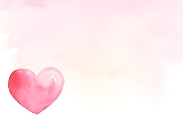 バレンタインデーのアイコン水彩イラスト 無料ベクター