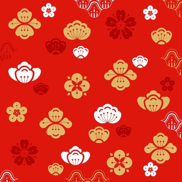 Китайский новый год иллюстрация Бесплатные векторы