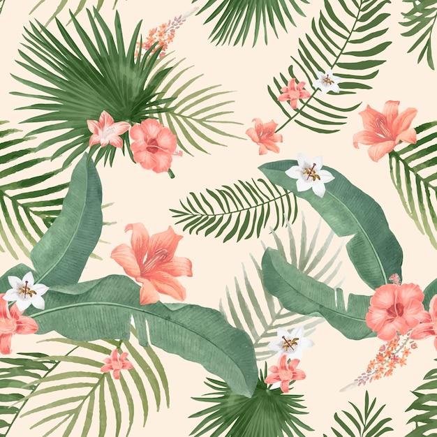 Иллюстрация тропической листвы Бесплатные векторы
