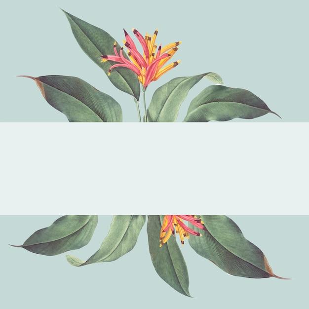 熱帯植物のモックアップの図 無料ベクター