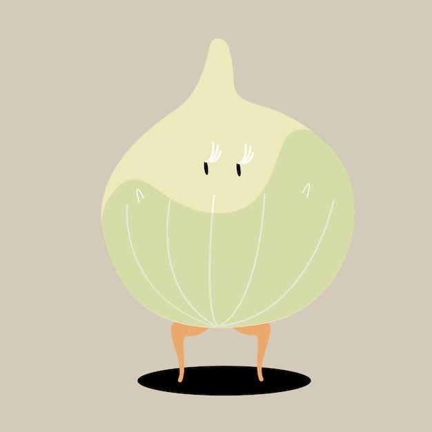 有機オニオン漫画のキャラクターのベクトル 無料ベクター