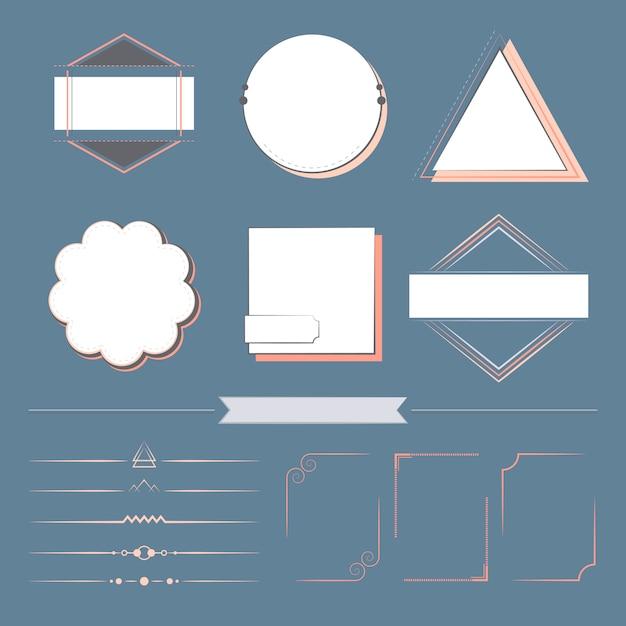 Набор элементов дизайна вектора Бесплатные векторы