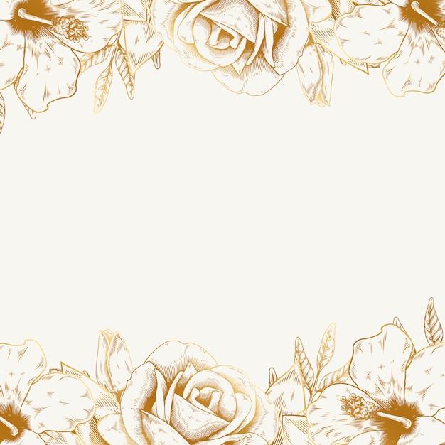 ビンテージ花の背景 無料ベクター