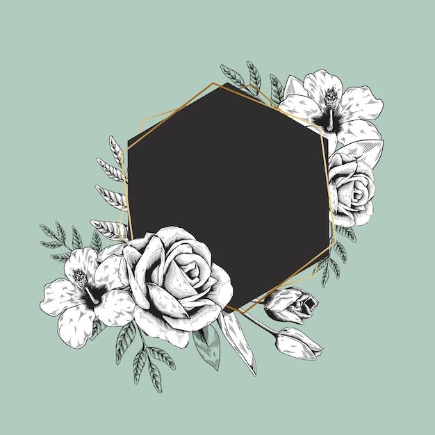 花のロゴのバナー 無料ベクター