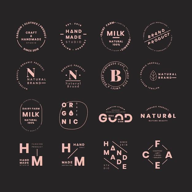 Наборы логотипов бренда Бесплатные векторы