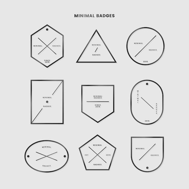Минимальный набор значков Бесплатные векторы